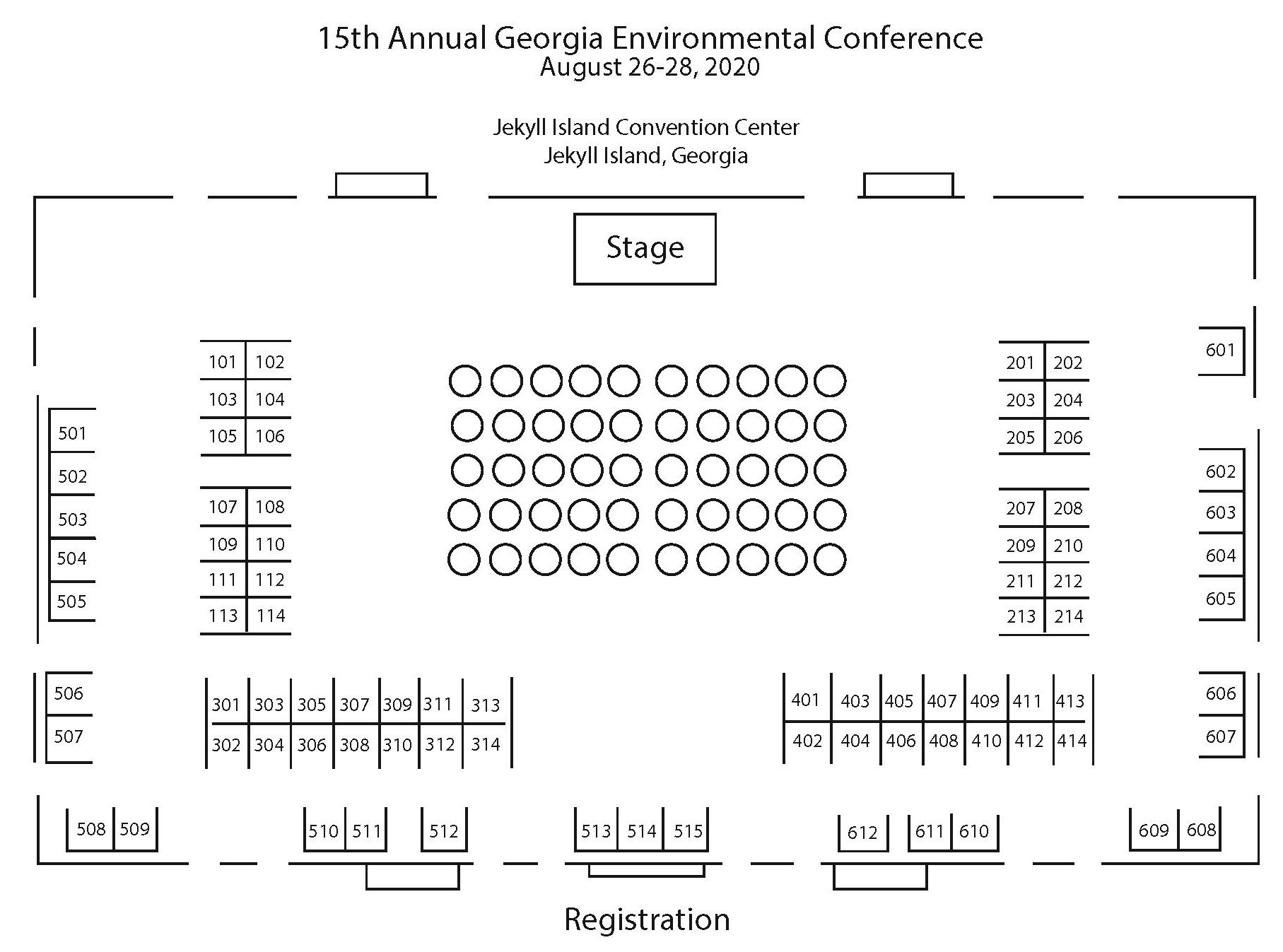 GEC 2020 Exhibit Hall Map